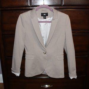 Cream blazer from H&M